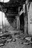 Oude arcades in de industriestreek Royalty-vrije Stock Foto