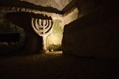 Oude archeologie in Beit She'arim, Israël Royalty-vrije Stock Foto's