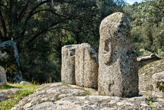 Oude archeologische plaats van Filitosa, Corsica (Frankrijk) royalty-vrije stock afbeelding
