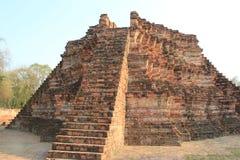Oude Architectuur bij Watlokayasutharam-Tempel in Ayudhaya, Th Royalty-vrije Stock Foto