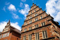 Oude Architectuur in Bremen, Duitsland. stock fotografie