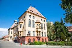 Oude architectuur in Media, Roemenië royalty-vrije stock foto