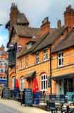 Oude architectuur in Nottingham, Engeland stock afbeeldingen