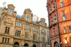 Oude architectuur in Nottingham, Engeland stock foto