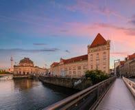 Oude architectuur van Berlijn duitsland stock afbeelding