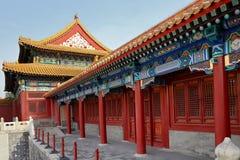 Oude architectuur van de paleizen complex in de Verboden Stad, Peking, China Royalty-vrije Stock Afbeeldingen