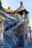 Oude architectuur van een huis Honfleur stock fotografie