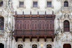 Oude architectuur van Lima, Peru. Stock Foto's