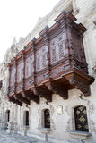 Oude architectuur van Lima, Peru. Royalty-vrije Stock Afbeelding