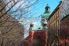 Oude architectuur van Stockholm, Zweden royalty-vrije stock afbeeldingen