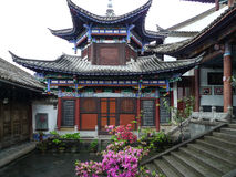 Oude architectuur in yunnan heshunstad, China royalty-vrije stock foto's