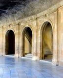 Oude arena in het Alhambra Paleis in Spanje Royalty-vrije Stock Foto