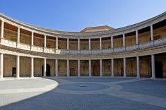 Oude arena in het Alhambra Paleis in Spanje Royalty-vrije Stock Fotografie