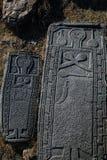 Oude Armeense grafsteen royalty-vrije stock afbeeldingen