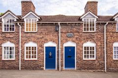 Oude Armenhuizen, Veel Wenlock, Shropshire stock foto's