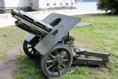 Oude Artillerie Canon Stock Foto's