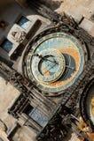 Oude astronomische klok in Praag Royalty-vrije Stock Foto