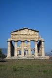 Oude Athena-tempel in Paestum. Royalty-vrije Stock Fotografie