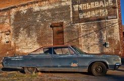 Oude auto en typo Royalty-vrije Stock Afbeelding