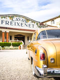 Oude Auto in Freixenet Royalty-vrije Stock Foto