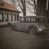 Oude auto, oude stijl, Dusseldorf, Duitsland Stock Foto