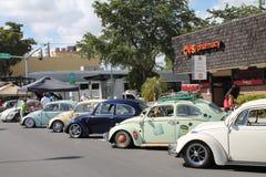 Oude auto's op een rij Stock Foto