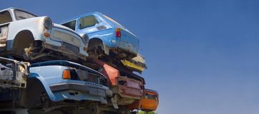 Oude auto'sruimte royalty-vrije stock fotografie