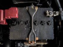 Oude autobatterij Stock Fotografie