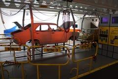 Oude autofabriek Stock Foto
