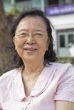 Oude Aziatische Chinese vrouw Royalty-vrije Stock Foto