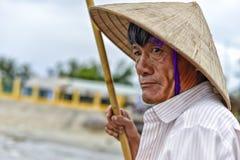 Oude Aziatische Mens Stock Foto's