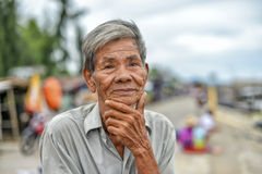 Oude Aziatische Mens Stock Foto