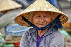 Oude Aziatische Vrouw Royalty-vrije Stock Foto