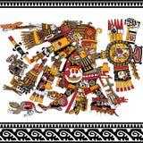 Oude Azteekse God Stock Fotografie