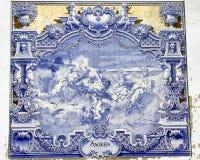 Oude Azulejo in Lissabon Royalty-vrije Stock Afbeeldingen