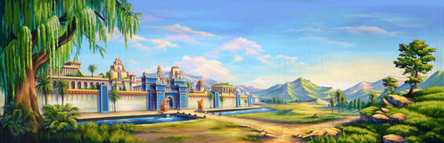 Oude Babylon vector illustratie