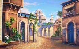 Oude Babylon stock illustratie