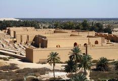 Oude Babylon in Irak Stock Afbeeldingen