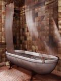 Oude badkuip met bloed Stock Afbeeldingen