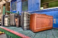 Oude bagage Royalty-vrije Stock Afbeeldingen