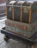 Oude bagage Stock Foto's