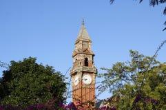 Oude baksteen clocktower Royalty-vrije Stock Foto
