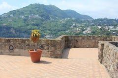 Oude Baksteen en Steen in Ischia, Italië royalty-vrije stock fotografie