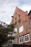 Oude baksteen huis-I-Lueneburg Stock Fotografie