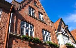 Oude baksteen huis-ii-Lueneburg Royalty-vrije Stock Fotografie