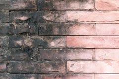 Oude baksteen rode muur, achtergrond van de de muur de oude textuur van de baksteensteen stock foto
