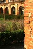 Oude baksteenboog Royalty-vrije Stock Fotografie