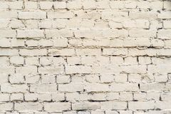 Oude baksteenoppervlakte van bleke roomkleur Stock Foto's
