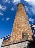 Oude baksteenpijp in de oude suikerrietfabriek mauritius Stock Afbeelding