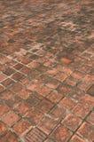 Oude baksteenvloer Stock Foto